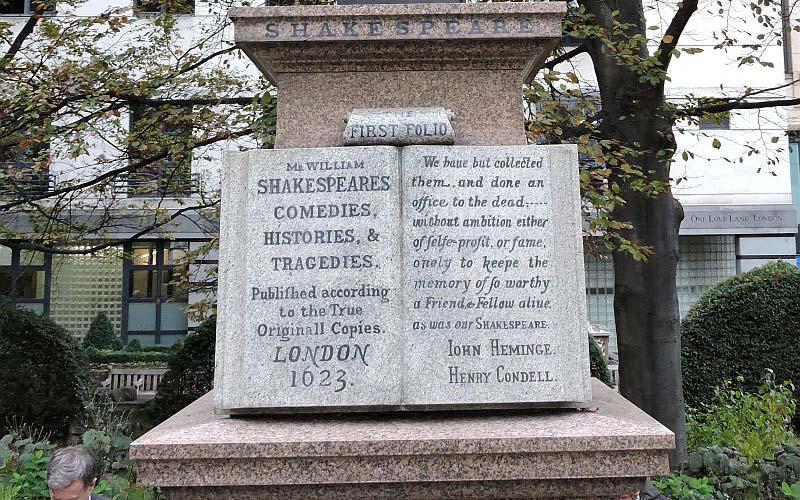 John Heminges and Henry Condell Memorial